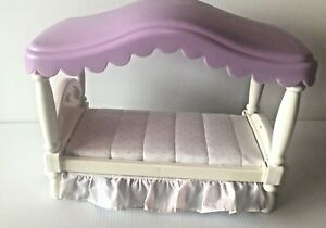 Vintage 1990's Little Tikes My Size Barbie Dollhouse Furniture Canopy Bed