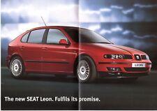 SEAT Leon 2000-01 UK Opuscolo Vendite sul mercato CUPRA SPORT se S 1.8T 1.8 1.6 1.4 TDI