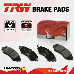 4pcs TRW Front Disc Brake Pads for Ssangyong Musso With Acoustic Wear Warning