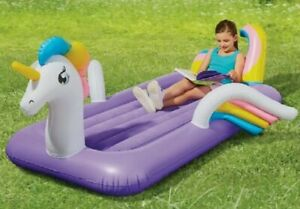 Bestway Unicorn CHILDRENS Kids Blow Up Bed Girls AIR BED Travel Camping - NEW