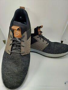 Skechers Men's Delson Camben Size 11.5 Slip On Sneaker - Black/Gray