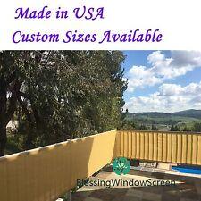 Custom-sized 30 Privacy Screen Mesh Backyard Deck, Patio, Balcony, Pool, Porch