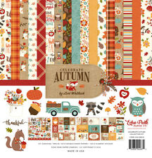 Echo Park - CELEBRATE AUTUMN 12x12 Scrapbook collection Kit Papers + Stickers