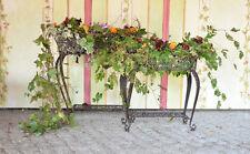Blumenständer 2xset Antik Metall Pflanzengefäss Blumenkasten Pflanztreppe 2set