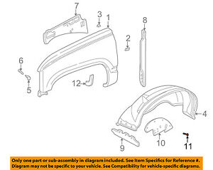 GM OEM Fender-Splash Shield Retainer Clip 332364