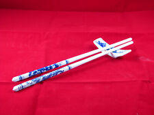 Chinese Porcelain Ceramic Chopsticks with Rest