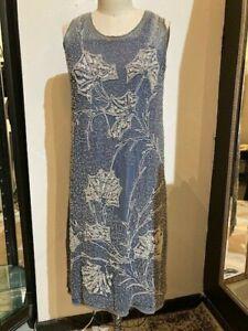 Vintage 1980\u2019s Blue Beaded Silk Cocktail Argenti Flapper Bishop Sleeve Knee Length Dress