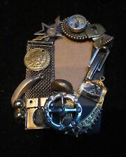 """Vintage Handmade Pin/Brooch from Old pieces of Jewelry Place for Photo 3.25""""X2"""""""