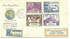 1949 Universal Postal Union Montserrat To Los Angeles Registered Fdc