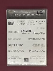 Itty Bitty Birthdays Stampin' Up! RETIRED Cling Mount Stamp Set