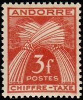 "ANDORRE FRANCAIS STAMP TIMBRE TAXE N° 27 "" CHIFFRE-TAXE 3F "" NEUF x TB"