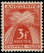 "ANDORRE FRANCAIS STAMP TIMBRE TAXE YVERT N° 27 "" CHIFFRE-TAXE 3F "" NEUF x TB"