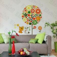 Colorful Flower Party - DOG CAT GREEN Wall Decals Stickers Appliques Home Decor