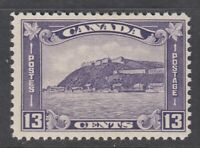 "Canada MINT OG Scott #201 13 cent Quebec Citadel ""KGV Medallion""   F *"