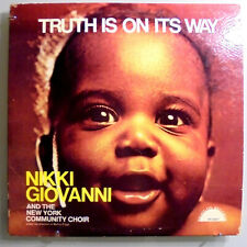 NIKKI GIOVANNI~TRUTH IS ON WAY~RARE ORIG '71 AFRO/SOUL POETRY LP ON RIGHT-ON LBL