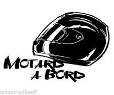 Original : Sticker Motard à bord, 15 cm Envoi suivi gratuit Ref M0036