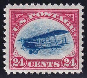US STAMP BOB AIR #C3 – 1918 24c Curtiss Jenny, carmine rose & blue MH/OG crease