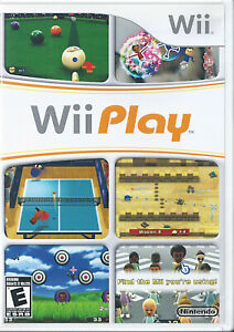 Wii Play (Nintendo Wii, 2007) With Manual