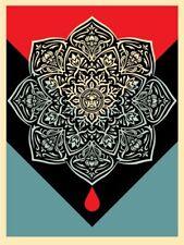 Shepard Fairey BLOOD AND OIL MANDALA - Blood Drop print Obey rise above S/N