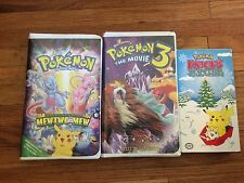Pokemon VHS Lot Pokemon The Movie 1 &3 Pikachus Winter Vacation Pokemon Go