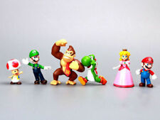 6PCS Super Mario Bros Full Character Kid Display Action Figures Toy