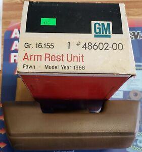 NOS 1968 C-10, C-20, C-30 Pickup Arm Rest Fawn Part# 48602-00