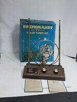 Vintage Indoor Tv Antenna REMBRANT Color Tuner 123 w/ Original box good conditio