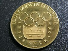 Medaille 900 Gold, Innsbruck 1964, IX. olympische Winterspiele, extrem selten!