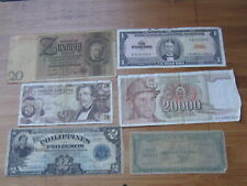 Lot of 6 World Paper Money #421