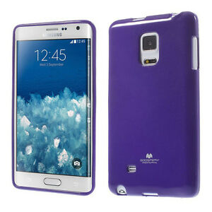 Korean Mercury Pearl TPU Gel Jelly Case Cover Samsung Galaxy Note Edge Purple