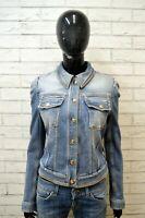 JUST CAVALLI Giacca in Jeans Blu Donna Taglia M Giubbino Jacket Women Slim