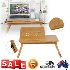 Portable Multi Use Bamboo Laptop Notebook Computer Home Desk Bed Tray Table