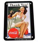 COCA-COLA COKE panneau métallique tôle métal plaque - Femme dans Maillot avec