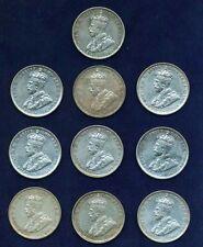 AUSTRALIA GEORGE V   1936  1 SHILLING SILVER COINS (10)