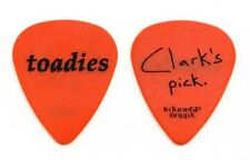 Toadies Clark Vogeler Signature Orange Guitar Pick 2012 Tour