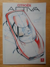 CITROEN Activa Concept Car c1988 UK Mkt sales brochure - BZ Xantia interest