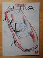 CITROEN Activa Concept Car c1988 UK Mkt sales brochure - BZ Xantia interest