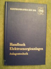 Elektroenergieanlagen - DDR Fachbuch Anlagen Technik Meßeinrichtung Stromrichter