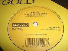 "EAGLES - TAKE IT TO THE LIMIT / BEST OF MY LOVE     7"" OLD GOLD VINYL - UNPLAYED"