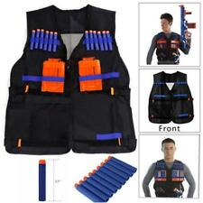Tactical Vest Kids Toy Clip Jacket Foam Bullet Ammunition Holder DD
