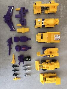 Transformers Vintage g2 Devastator Constructicons Lot Set with Weapons