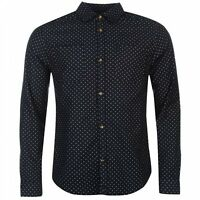 Soviet Mens Polka Dot Shirt Smart Navy UK Size S Small Long Sleeve  *REF47