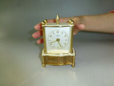 Rare Vintage German Musical Alarm Clock with Swiss Reuge Music Box (Watch Video)