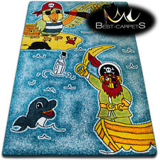 Soft Carpets Bedroom Boys Girls Thick Children Rug 'KIDS' Pirates FUN Rugs LARGE