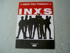 INXS Need You Tonight sheet music