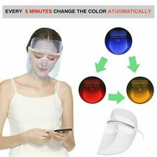 3 Colors LED Light Photon Face Mask Rejuvenation For Skin Care Therapy Wrinkle