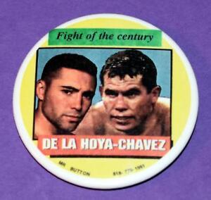 "Oscar De La Hoya Julio Cesar Chavez Fight of the Century 2-3/16"" Pin Back Button"