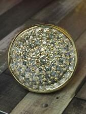 3.50 Ct White & Round Sim Diamond Men's Silver Pinky Ring 14K Yellow Gold Plated