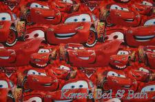 Cars Movie Lightning McQueen Boy Red Handcrafted Custom Sewn Curtain Valance
