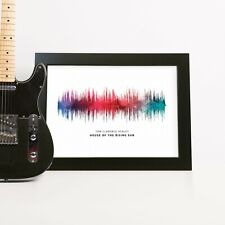 Watercolour Sound Wave Print Song Personalised Birthday Anniversary Wedding Gift